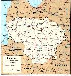 Cartina Politica della Lituania