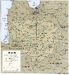 Cartina Fisica della Lituania