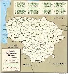 Cartina Amministrativa della Lituania